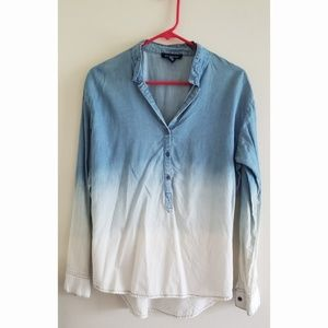 Ombre Blouse Thin Denim Top